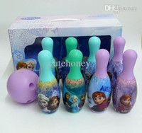 Wholesale novelty Frozen plastic toys Elsa Anna bowling set model sport game for kids