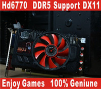 Wholesale ATI HD6770 DDR5 support DX11 SP game graphic card authentic placa de video card computer independent video card