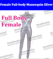Wholesale OWK High Quality Inflatable Female Full body Mannequin Torso model Silver Gray High quality body