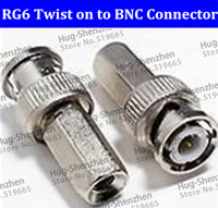 Wholesale OWK High Quanlity and Big sale RG Twist on to Male BNC Connector Coaxial