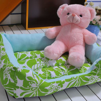 Wholesale Square Printed Plush Pet Dog Kennel Warm Thicken Dog Cushion Nest LCCAD15