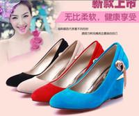 Wholesale 2014 new fashion Women high heeled shoes wedding shoes Stylish pumps Platform Wedges shoes single shoes S