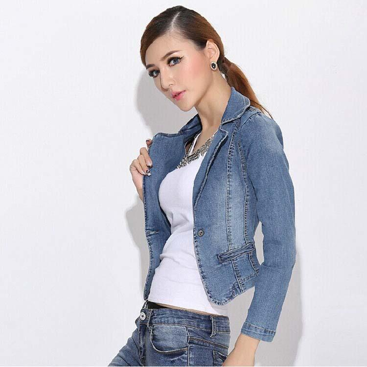 Sexy Denim Jackets Vintage Girls Short Jeans Coat Fashion Women ...