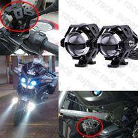 Wholesale 2X W Motorcycle CREE U5 LED Driving Fog LM Headlight Spot Stobe Flashers Lamp Driving Head Light Waterproof V V DC