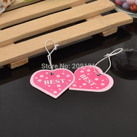 Halloween best packing materials - 500PCS Hot Pink Heart Shape Best Letter Price Hanging tags Label Paper Card Jewelry Packing Material Card Necklace Earring Label