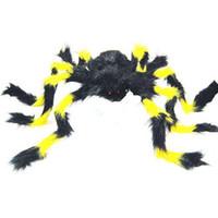 Wholesale Halloween Holiday Decoration Plush Spider Bar Decoration x22