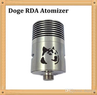 Cheap Doge RDA Atomizer 2014 Stainless Steel Replaceable Dripping Atomizer Flow Control VS Dark Horse Big Dripper little Boy Mirandus RDA Atomizer