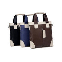 Wholesale 2014 New Design Fashion Men Shoulder Messenger Bags Top Handbags Oxford With Leather Men Briefcases Casual Bag