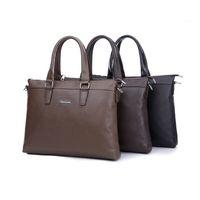 Wholesale 2015 New Arrival Fashion Men Shoulder Messenger Bags Top Handbags Design Genuine Leather Briefcases Casual Bag Computer Bag