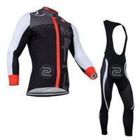 Wholesale castelli men winter autumn thermal cycling Jersey suit with long sleeve bike top bib pants in cycling clothing bicycle wear