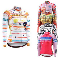 Wholesale 2014 women s cycling jersey in winter autumn with long sleeve cycling top of Polyester bicycle wear bike jacket