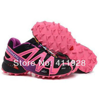 Wholesale 2013 Women s Zapatillas Salomon Speedcross Running Shoes Christmas Gift Athletic Shoes Size