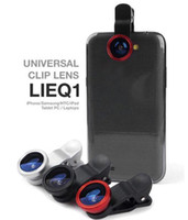 Wholesale Universal in Clip On Fish Eye Lens Wide Angle Macro Lens degree for iphone S G S3 i9300 android smart phone with package