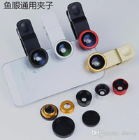 Wholesale New in Lens Metal Clip Fisheye Lens Universal Wide Angle Micro Lens for Apple iPhone S C S i6 Samsung Mobile Smart Cell Phone
