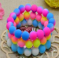 Wholesale handcraft jewelry Hot Neon Bracelet fluorescence Color Beads Disco Shamballa Ball stand stretch bracelets