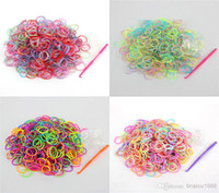 Wholesale Rainbow Loom Refill Bands Pack of Rubber Bands with S Clips Christmas gift
