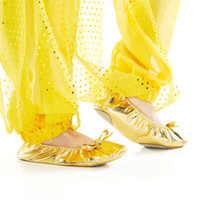 children dance costumes - Children Dance Costume Accessaries Flattie Shoes With Bowknot Adornment Girls Belly Dance Ballet Dancing Flat Shoes tsc03