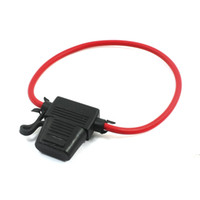 Wholesale Car Rubber Blade Fuse Holder Container V A Fuse Red Black