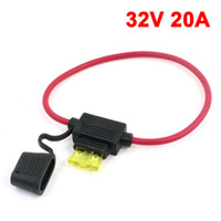 Wholesale Vehicles Car Rubber Blade Fuse Holder Container V A Fuse Red Black