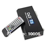 Cheap Digital HD 1080P DVB-T2 TV Receiver HDMI MPEG-4 H.264 PVR + Remote Control free shipping ,wholesale # 190120