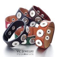 snakeskin - Vocheng NOOSA Genuine Leather Bangles with Snap Buttons Jewelry Snakeskin Colors Vb