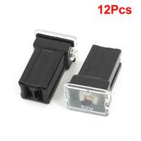 Wholesale 12 Car Vehicle Auto Female Plug Cartridge PAL Fuse Black DC V A