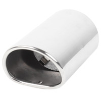 audi mufflers - Silver Tone Stainless Steel Muffler Tail Pipe for Audi Q5