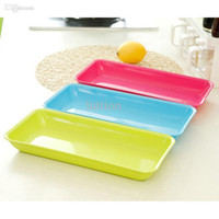 Wholesale Fashionable household color fruit bowl Receive a rectangle plate of kitchen items