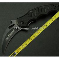 Cheap 2015 Hot sale OEM Fox claw karambit G10 handle folding knife survival outdoor gear pocket knife hunting knife hunting Knives & Tools