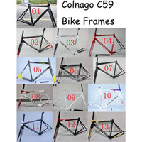 Wholesale New Colnago C59 Carbon Bike Frames Bicycle Size s T800 Carbon Fiber Road Bike Racing Bicycle Frameset Available For Colors