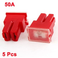 Wholesale 5 Red Plastic Shell Female Plug in Blades A PAL Fuse for Car