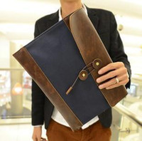 Wholesale Commercial Envelope Day Clutch File Bag Vintage Briefcases Clutch Bag Documents Bag Handbags Day Clutches