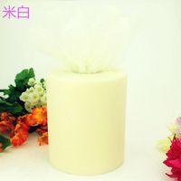 Wholesale 100yard roll cm yd Tulle Spool DIY Bridal Dress Bouquet Candy Box Chair Cover Gauze Craft Ornament Wedding Favors wdv002 Y