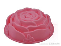 Wholesale 2014 New Rose Chocolate Silicon Mold Cake Decoration Mold Cupcake Moulds Jelly Pudding