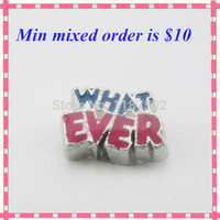 Cheap NEW Arrive WHAT EVER Floating Charms for glass locket living Floating locket charms fit in origami owl locket free shipping