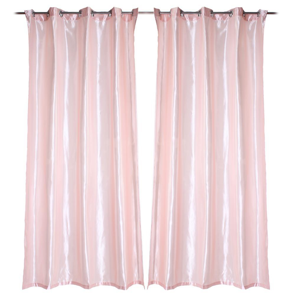 Light pink curtains - Thermal Blackout Eyelet Ring Top Curtain Home Decor 55x95 Inch Light Pink