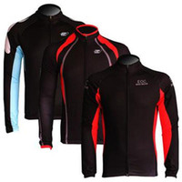 Wholesale 2014 men s winter fleece cycling jersey jacket with long sleeve cycling bike top of breathable anti UV bicycle wear clothing