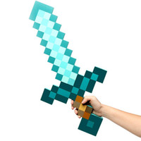 Wholesale 5pcs New minecraft mosaic Diamond swords toy swords great for collection
