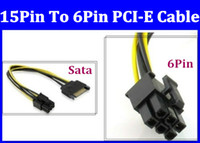 Wholesale Freeshipping pin SATA Power To p PCI Express graphics Video Card Power socket Cable
