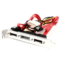 Wholesale FreeShipping Dual SATA to Ports eSATA Pin IDE Power PCI Bracket Slot Cable