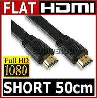 Wholesale M FT Full P D HDMI Flat Cable for XBOX PS3 HDTV HDMI Male to Male extension cord