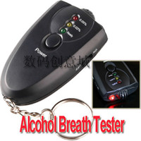 Wholesale Mini Accurate Breath Alcohol Tester with Flashlight Breathalyzer Keychain Tester