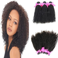 Wholesale Malaysian Vrigin Hair Human Hair Kinky Curly Curl Extension Weave A Indian Mogngolian Brazilian Peruvian Remy Hair
