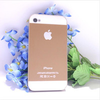 Wholesale The metal wiredrawing mobile phone protection shell for iphone4s four color optional