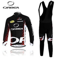 Wholesale 2014 ORBEA men cycling Jersey sets in winter autumn with long sleeve bike top bib pants in cycling clothing bicycle wear
