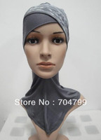 Wholesale H535c Lace crossover full cotton ninja underscarf cover neck hats fast delivery assorted colors