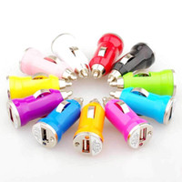 Wholesale Multi Color Mini USB Car Charger Adapter Cellphone Charger Universal for iPhone S G GS ipod cell phone mp4