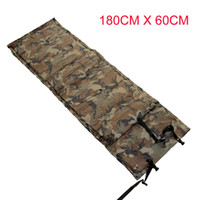 Wholesale Camouflage Outdoor Camping Tent Automatic Inflatable Sleep Mattress Moisture proof Pad Cushion Single Air Bed Mattress Mat