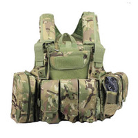 Wholesale Tactical Combat Molle Heavy duty Airsoft Vest Chest Rig Harness W Body Armor Strike Plate Carrier CP ACU OD Sand BK