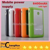 Cheap Wholesale - CHeap GOOD Large capacity Mobile power 8400 mAh mobile Power Bank external power supply phone pad MP3 4